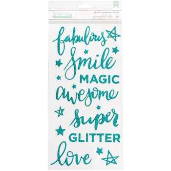 American Crafts Shimelle SPARKLE Glitter Foam Stickers Thickers Glitter Girl 343660
