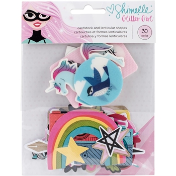 American Crafts Shimelle EPHEMERA Glitter Girl 343662