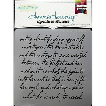 Donna Downey ART IS SCRIPT Signature Stencil DD119