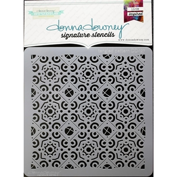 Donna Downey TANGLED PATTERN Signature Stencil DD127*