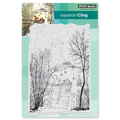 Penny Black Cling Stamp UNDER THE TREES 40-566 Preview Image