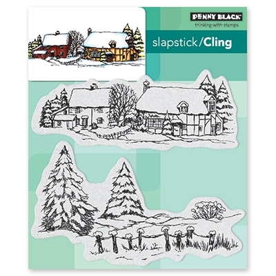 Penny Black Cling Stamp SNOW COVERED 40-565 Preview Image