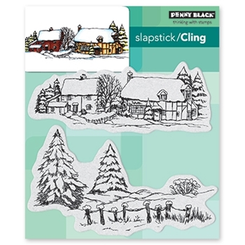 Penny Black Cling Stamp SNOW COVERED 40-565