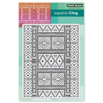 Penny Black Cling Stamp MOSAIC PATTERN 40-563