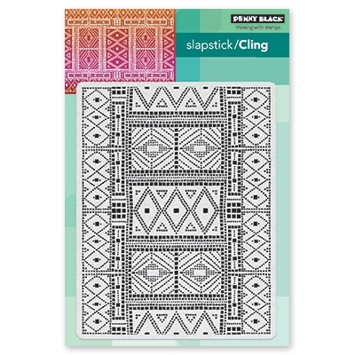Penny Black Cling Stamp MOSAIC PATTERN 40-563 zoom image