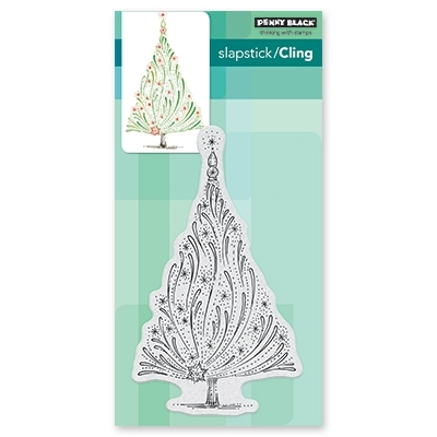 Penny Black Cling Stamp STARRY TREE 40-557 zoom image