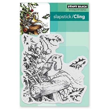 Penny Black Cling Stamp SNOWY PERCH 40-556