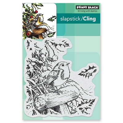 Penny Black Cling Stamp SNOWY PERCH 40-556 zoom image