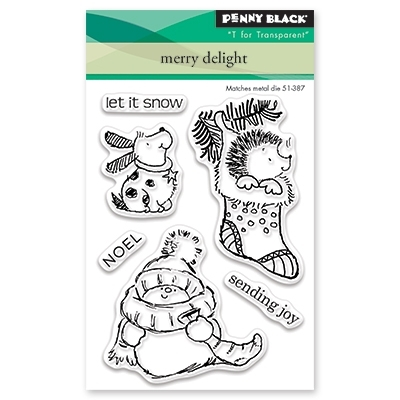 Penny Black Clear Stamp MERRY DELIGHT 30-448 Preview Image