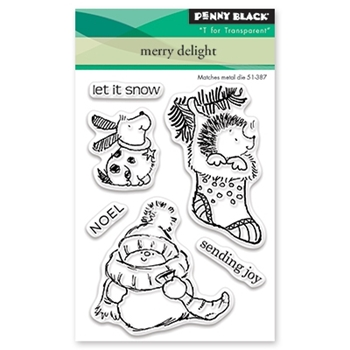 Penny Black Clear Stamp MERRY DELIGHT 30-448
