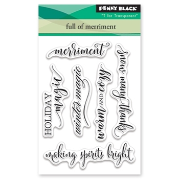 Penny Black Clear Stamp FULL OF MERRIMENT 30-444