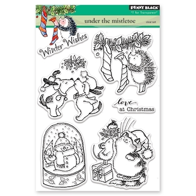 Penny Black Clear Stamp UNDER THE MISTLETOE 30-443 zoom image
