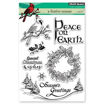 Penny Black Clear Stamp A FESTIVE SEASON 30-442 zoom image