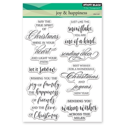 Penny Black Clear Stamp JOY AND HAPPINESS 30-440 Preview Image
