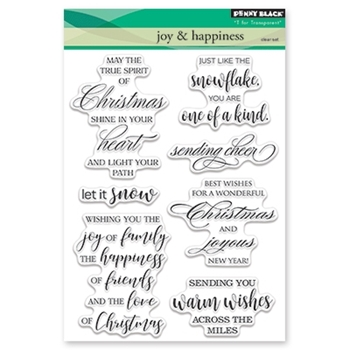 Penny Black Clear Stamp JOY AND HAPPINESS 30-440