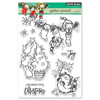 Penny Black Clear Stamp GATHER AROUND 30-439 Preview Image