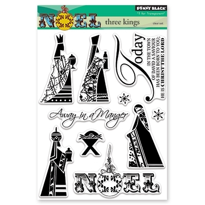 Penny Black Clear Stamp THREE KINGS 30-435 Preview Image