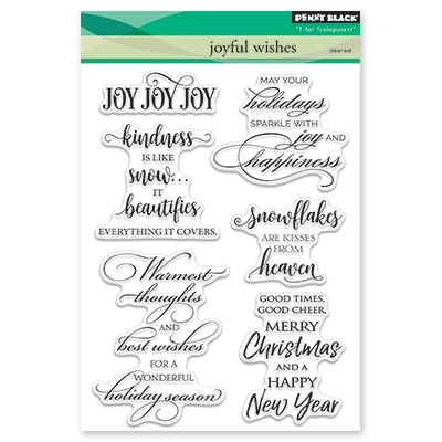 Penny Black Clear Stamp JOYFUL WISHES 30-434 Preview Image