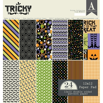 Authentique TRICKY 12 x 12 Paper Pad TRK007