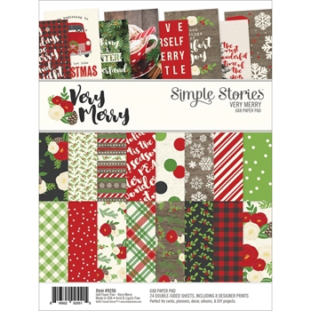 Simple Stories VERY MERRY 6 x 8 Paper Pad 9256