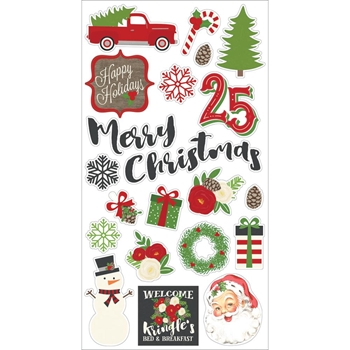 Simple Stories VERY MERRY 6 x 12 Chipboard Stickers 9257