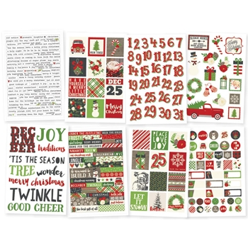 Simple Stories VERY MERRY 4 x 6 Stickers 9259