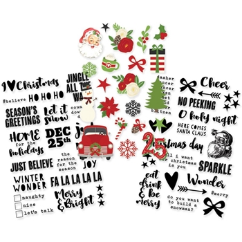 Simple Stories VERY MERRY Clear Stickers 9260