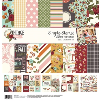 Simple Stories VINTAGE BLESSINGS 12 x 12 Collection Kit 9221