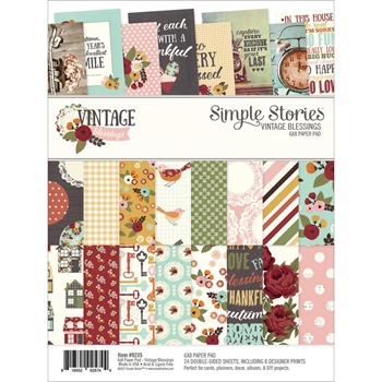 Simple Stories VINTAGE BLESSINGS 6 x 8 Paper Pad 9235