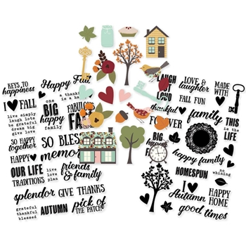 Simple Stories VINTAGE BLESSINGS Clear Stickers 9239