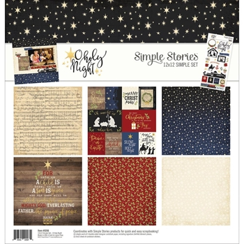 Simple Stories O HOLY NIGHT 12 x 12 Collection Kit 9266