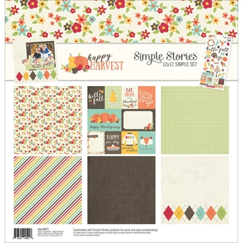 Simple Stories HAPPY HARVEST 12 x 12 Collection Kit 9271