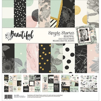 Simple Stories BEAUTIFUL 12 x 12 Collection Kit 9200