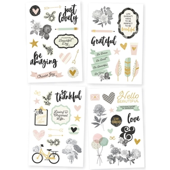 Simple Stories BEAUTIFUL 4 x 6 Stickers 9217