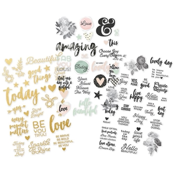 Simple Stories BEAUTIFUL Clear Stickers 9218