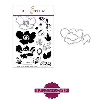 RESERVE Altenew BUILD A FLOWER ANEMONE Clear Stamp and Die Set