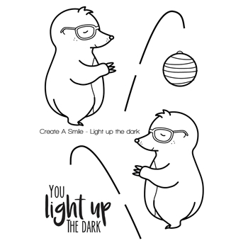 Create A Smile LIGHT UP THE DARK Clear Stamp CLCS56