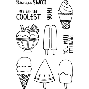 Jane's Doodles COOL Clear Stamp Set 743160