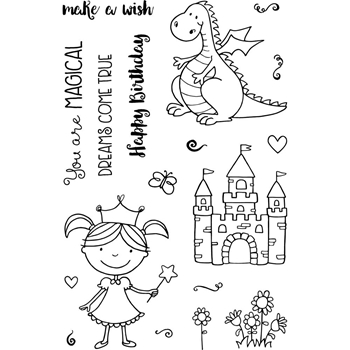 Jane's Doodles MAGICAL Clear Stamp Set 743153*