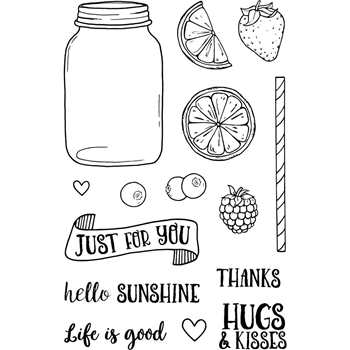 Jane's Doodles LIFE IS GOOD Clear Stamp Set 743146