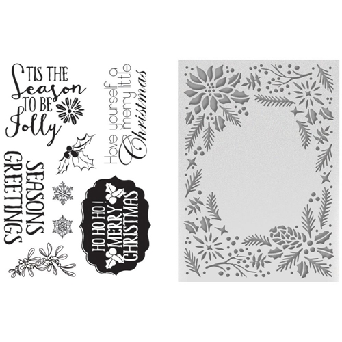Couture Creations TO BE JOLLY Embossing Folder & Stamp Set CO725496* Preview Image