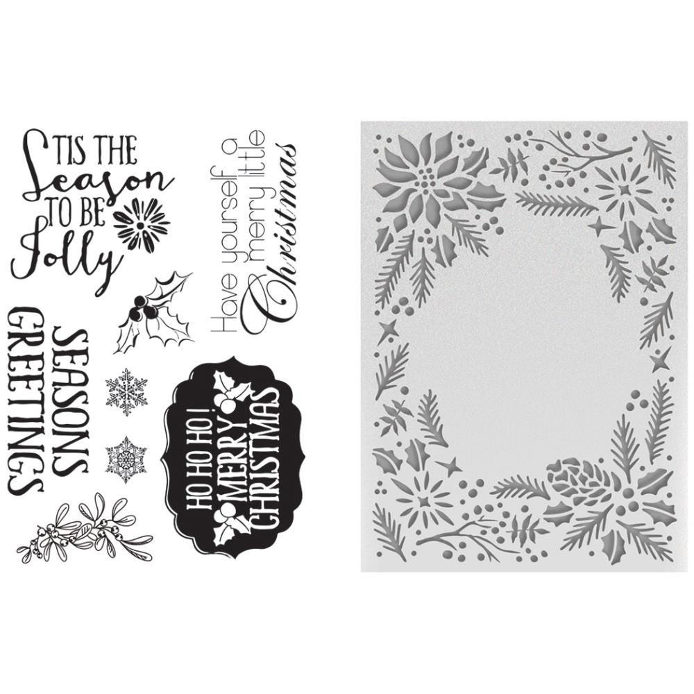 Couture Creations TO BE JOLLY Embossing Folder & Stamp Set CO725496* zoom image