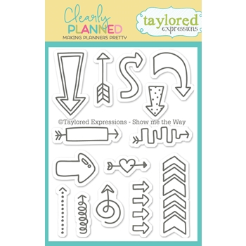 Taylored Expressions Clearly Planned SHOW ME THE WAY Clear Stamp Set TECP40