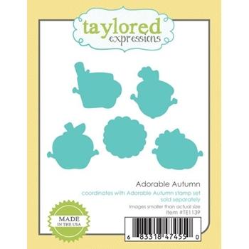 Taylored Expressions ADORABLE AUTUMN DIES Die Set TE1139