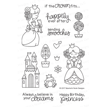 Newton's Nook Designs ONCE UPON A PRINCESS Clear Stamp Set NN1708S02