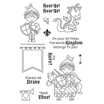 Newton's Nook Designs KNIGHT'S QUEST Clear Stamp Set NN1708S01