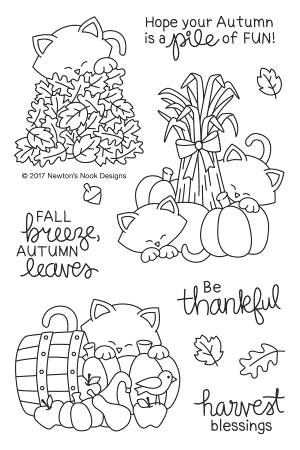 Newton's Nook Designs AUTUMN NEWTON Clear Stamp Set NN1708S04 Preview Image