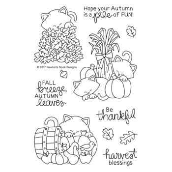 Newton's Nook Designs AUTUMN NEWTON Clear Stamp Set NN1708S04