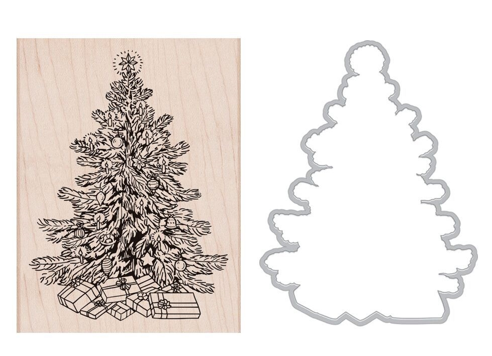 Hero Arts CLASSIC CHRISTMAS Rubber Stamp and Die Combo SB179 zoom image