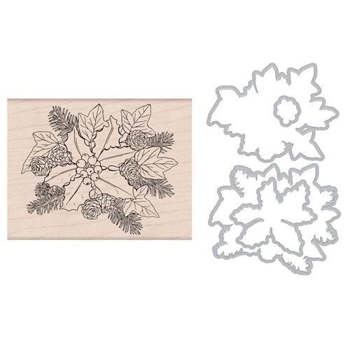 Hero Arts THE HOLLY AND IVY Rubber Stamp and Die Combo SB178 Preview Image